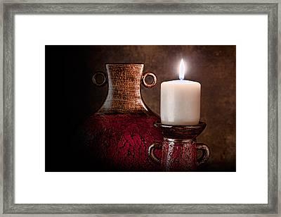 Candle Framed Print by Tom Mc Nemar