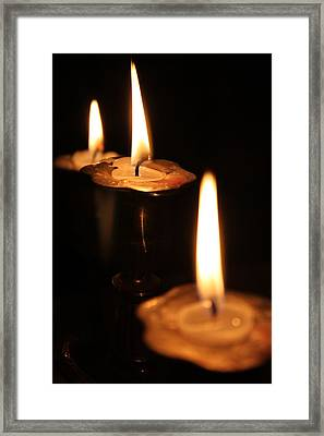 Candlelight Framed Print by Lauri Novak
