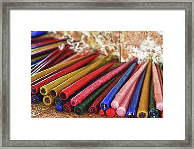 Candles Of Magellans Cross Cebu Framed Print by James BO  Insogna