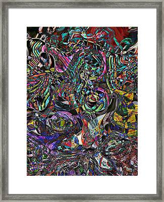 Candy Abstract Framed Print by Lori Seaman
