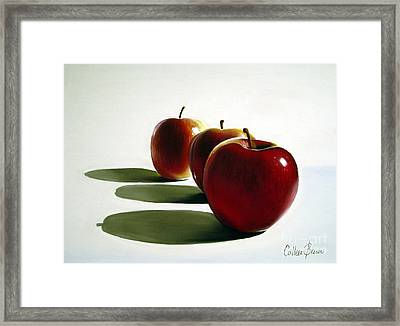 Candy Apple Red Framed Print by Colleen Brown