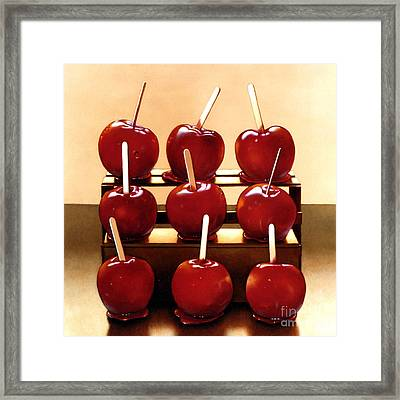 Candy Apples Framed Print by Larry Preston