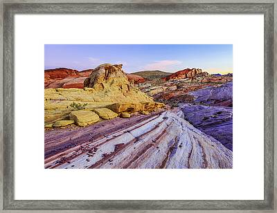 Candy Cane Desert Framed Print by Chad Dutson