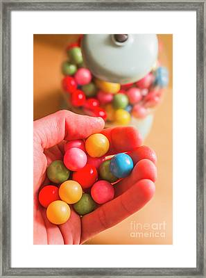 Candy Hand At Lolly Store Framed Print by Jorgo Photography - Wall Art Gallery
