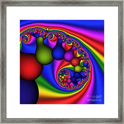 Candy Light Bulbs 170 Framed Print by Rolf Bertram