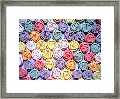Candy Love Framed Print by Michael Tompsett