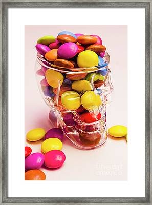 Candy Man Halloween Skull Framed Print by Jorgo Photography - Wall Art Gallery