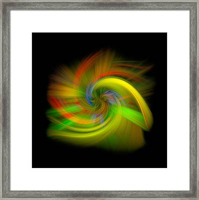 Candy Mountain Twirl Framed Print by Debra and Dave Vanderlaan