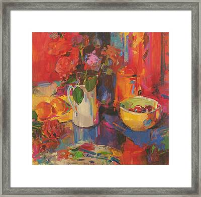 Candy Roses Framed Print by Peter Graham