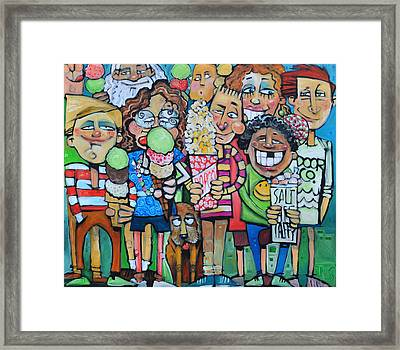Candy Store Kids Framed Print by Tim Nyberg