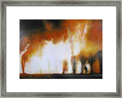 Cane Burning Framed Print by Christopher Chua