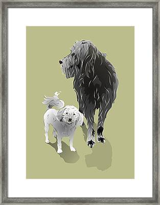 Canine Friendship Framed Print by MM Anderson