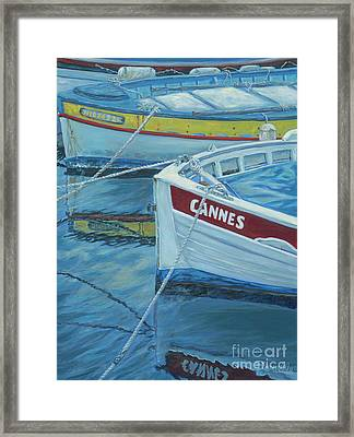Cannes Boats Framed Print by Danielle Perry