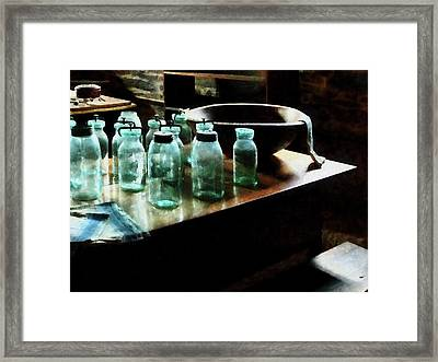 Canning Jars Framed Print by Susan Savad