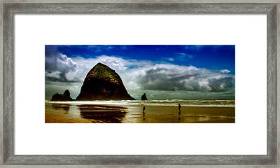 Cannon Beach At Dusk IIi Framed Print by David Patterson