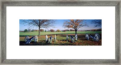 Cannons Valley Forge National Framed Print by Panoramic Images