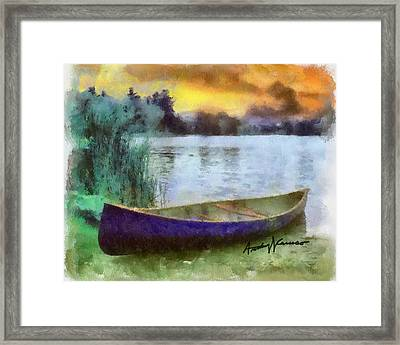 Canoe Framed Print by Anthony Caruso