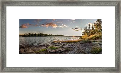 Canoe // Bwca, Minnesota  Framed Print by Nicholas Parker
