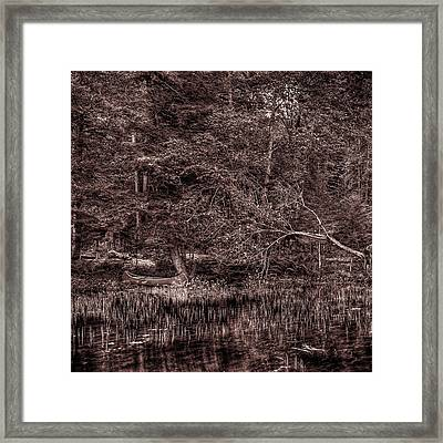 Canoe In The Adirondacks Framed Print by David Patterson