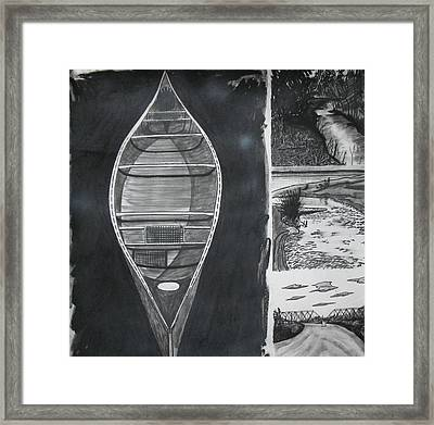 Canoe With Three Rivers Framed Print by Lee Davies