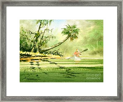 Canoeing The Rivers Of Florida Framed Print by Bill Holkham