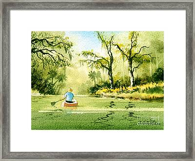 Canoeing The Rivers Of Florida II Framed Print by Bill Holkham