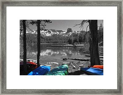 Canoes At Lake Mary Framed Print by Donna Kennedy