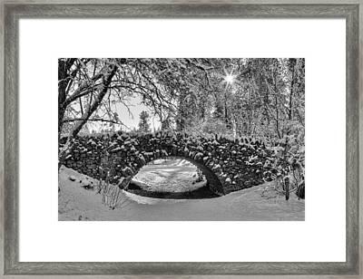 Canon Hill Park Winter - Black And White Framed Print by Mark Kiver