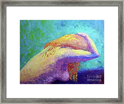 Cant Hide From The Pain Framed Print by Lisa Rose Musselwhite