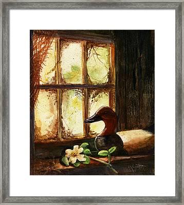 Canvasback Decoy II Framed Print by Marilyn Smith