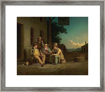Canvassing For A Vote Framed Print by George Caleb Bingham