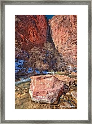 Canyon Corner Framed Print by Christopher Holmes