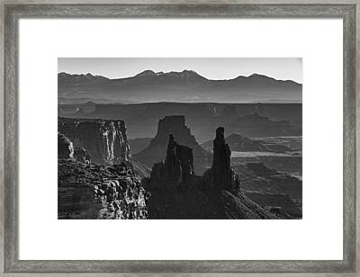 Canyon Formations Framed Print by Jon Glaser