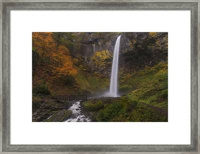 Canyon Of Mist Framed Print by Loree Johnson