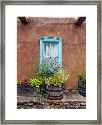 Canyon Road Blue Santa Fe Framed Print by Kurt Van Wagner