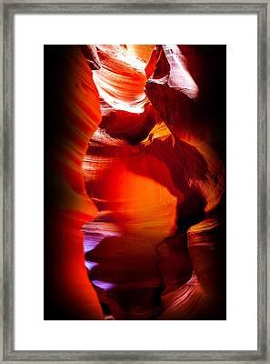 Canyon Shute Framed Print by Az Jackson