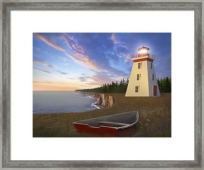 Cape Bear Light Framed Print by James Charles