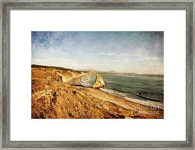 Cape Blanco Coastal View Framed Print by Scott Pellegrin