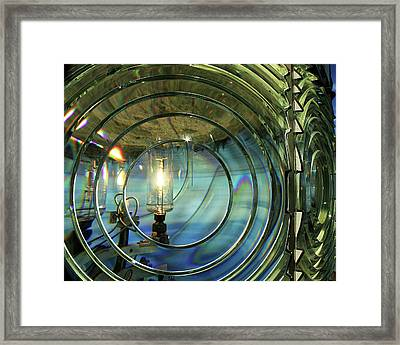 Cape Blanco Lighthouse Lens Framed Print by James Eddy