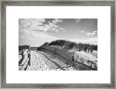 Cape Cod Beach Entry Framed Print by Mircea Costina Photography