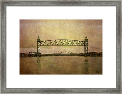 Cape Cod Canal And Bridges Framed Print by Dave Gordon