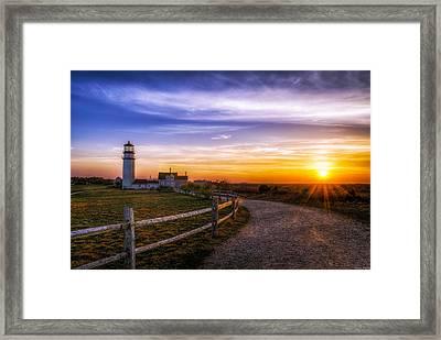 Cape Cod Light Framed Print by Mark Papke