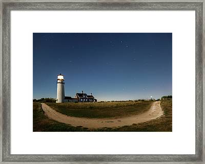 Cape Cod Light Starry Night Framed Print by Bill Wakeley