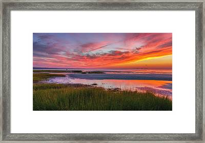 Cape Cod Skaket Beach Sunset Framed Print by Bill Wakeley