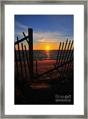 Cape Cod Sunset Framed Print by Catherine Reusch  Daley