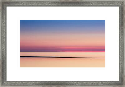 Cape Cod Sunset Colors Framed Print by Bill Wakeley