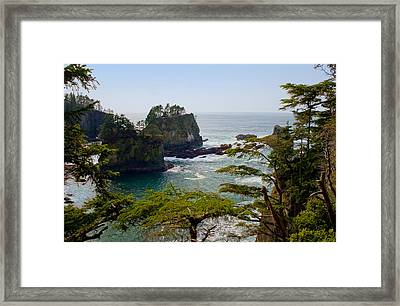 Cape Flattery Inlet Washington Framed Print by Stacey Lynn Payne