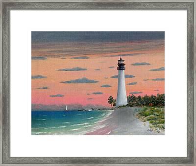 Cape Florida Light Framed Print by Gordon Beck