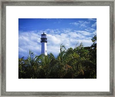 Cape Florida Light - Key Biscayne Florida Framed Print by Mountain Dreams