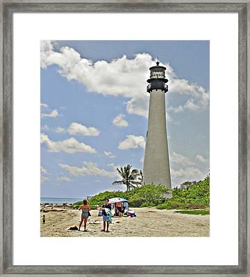 Cape Florida Lighthouse Framed Print by Allan Einhorn